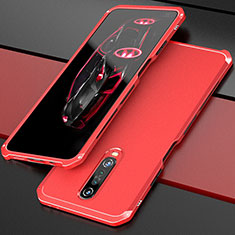 Luxury Aluminum Metal Cover Case for Xiaomi Redmi K30 5G Red