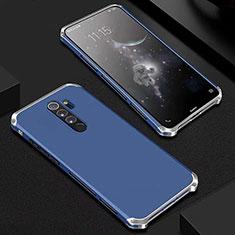 Luxury Aluminum Metal Cover Case for Xiaomi Redmi Note 8 Pro Blue