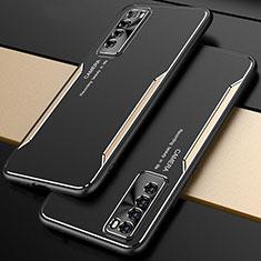 Luxury Aluminum Metal Cover Case M01 for Huawei Nova 7 5G Gold