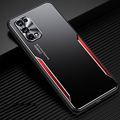 Luxury Aluminum Metal Cover Case M01 for Realme X7 Pro 5G Red