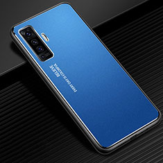 Luxury Aluminum Metal Cover Case M01 for Vivo X50 5G Blue