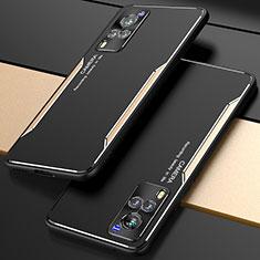 Luxury Aluminum Metal Cover Case M01 for Vivo X60 5G Gold