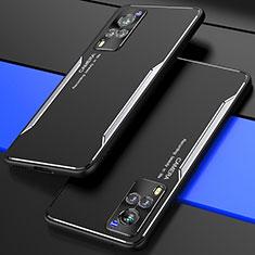 Luxury Aluminum Metal Cover Case M01 for Vivo X60 5G Silver