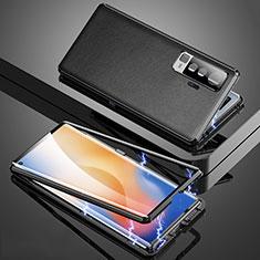 Luxury Aluminum Metal Cover Case M04 for Vivo X50 5G Black