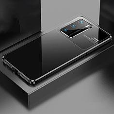 Luxury Aluminum Metal Cover Case N01 for Huawei P40 Black