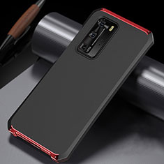 Luxury Aluminum Metal Cover Case N02 for Huawei P40 Pro Red and Black