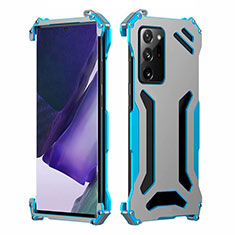 Luxury Aluminum Metal Cover Case N02 for Samsung Galaxy Note 20 Ultra 5G Sky Blue