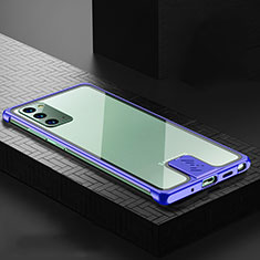 Luxury Aluminum Metal Cover Case N03 for Samsung Galaxy Note 20 5G Blue