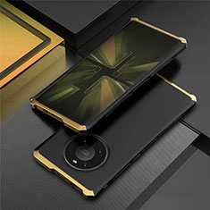 Luxury Aluminum Metal Cover Case T01 for Huawei Mate 40 Pro Gold and Black