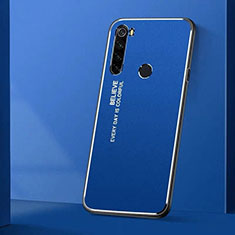 Luxury Aluminum Metal Cover Case T01 for Xiaomi Redmi Note 8 Blue