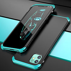 Luxury Aluminum Metal Cover Case T02 for Apple iPhone 11 Cyan