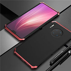 Luxury Aluminum Metal Cover Case T02 for Huawei Mate 30 Red and Black