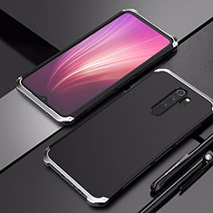 Luxury Aluminum Metal Cover Case T02 for Xiaomi Redmi Note 8 Pro Silver and Black