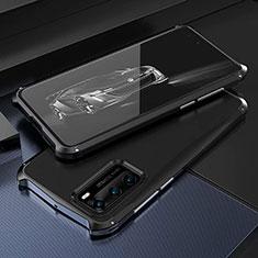 Luxury Aluminum Metal Cover Case T03 for Huawei P40 Black