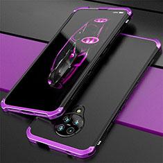 Luxury Aluminum Metal Cover Case T03 for Xiaomi Poco F2 Pro Purple