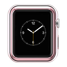 Luxury Aluminum Metal Frame Cover A01 for Apple iWatch 3 42mm Pink