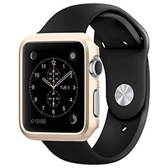Luxury Aluminum Metal Frame Cover C01 for Apple iWatch 3 42mm Gold
