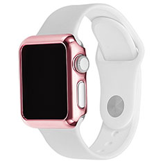 Luxury Aluminum Metal Frame Cover C03 for Apple iWatch 3 42mm Pink