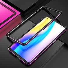 Luxury Aluminum Metal Frame Cover Case A01 for Oppo Find X2 Neo Purple