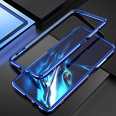 Luxury Aluminum Metal Frame Cover Case A01 for Xiaomi Redmi K30 5G Blue