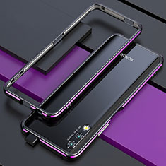 Luxury Aluminum Metal Frame Cover Case for Huawei Honor 9X Purple