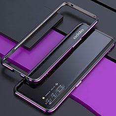 Luxury Aluminum Metal Frame Cover Case for Oppo Find X2 Lite Purple