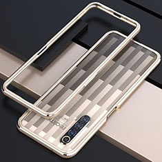 Luxury Aluminum Metal Frame Cover Case for Realme X50m 5G Gold