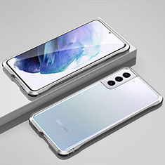 Luxury Aluminum Metal Frame Cover Case for Samsung Galaxy S21 Plus 5G Silver