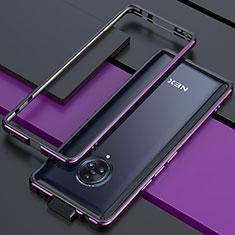 Luxury Aluminum Metal Frame Cover Case for Vivo Nex 3 5G Purple