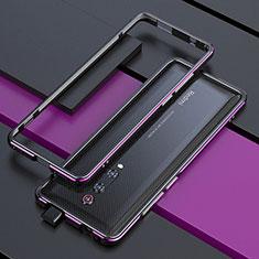 Luxury Aluminum Metal Frame Cover Case for Xiaomi Mi 9T Pro Purple