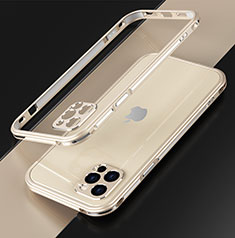 Luxury Aluminum Metal Frame Cover Case N01 for Apple iPhone 12 Pro Max Gold