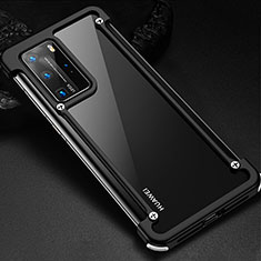 Luxury Aluminum Metal Frame Cover Case N01 for Huawei P40 Pro Black