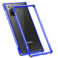 Luxury Aluminum Metal Frame Cover Case N01 for Samsung Galaxy Note 20 5G Blue