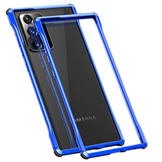 Luxury Aluminum Metal Frame Cover Case N01 for Samsung Galaxy Note 20 Ultra 5G Blue