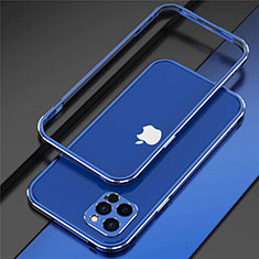 Luxury Aluminum Metal Frame Cover Case N02 for Apple iPhone 12 Pro Max Blue