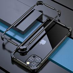 Luxury Aluminum Metal Frame Cover Case N03 for Apple iPhone 12 Pro Black