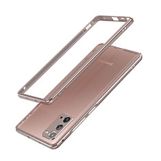 Luxury Aluminum Metal Frame Cover Case N03 for Samsung Galaxy Note 20 5G Bronze