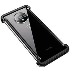Luxury Aluminum Metal Frame Cover Case T01 for OnePlus 7T Black