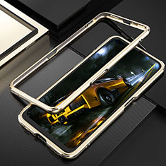 Luxury Aluminum Metal Frame Cover Case T01 for Realme X50 Pro 5G Gold
