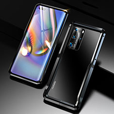 Luxury Aluminum Metal Frame Cover Case T02 for Huawei P40 Pro Black