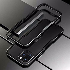 Luxury Aluminum Metal Frame Cover Case T03 for Apple iPhone 12 Pro Black
