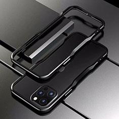 Luxury Aluminum Metal Frame Cover Case T03 for Apple iPhone 12 Pro Max Black