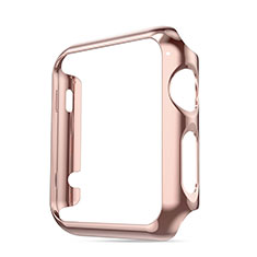 Luxury Aluminum Metal Frame Cover for Apple iWatch 3 42mm Pink