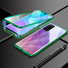 Luxury Aluminum Metal Frame Mirror Cover Case 360 Degrees for Huawei Honor 30 Lite 5G Green
