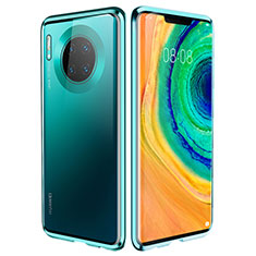 Luxury Aluminum Metal Frame Mirror Cover Case 360 Degrees for Huawei Mate 30 Pro 5G Green