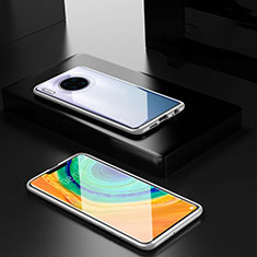 Luxury Aluminum Metal Frame Mirror Cover Case 360 Degrees for Huawei Mate 30 Pro 5G Silver
