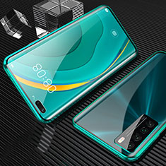 Luxury Aluminum Metal Frame Mirror Cover Case 360 Degrees for Huawei Nova 7 Pro 5G Green