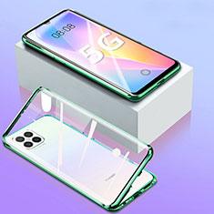 Luxury Aluminum Metal Frame Mirror Cover Case 360 Degrees for Huawei Nova 8 SE 5G Green
