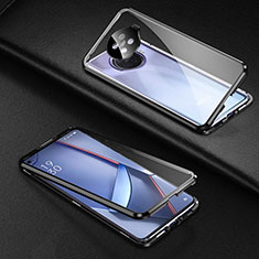 Luxury Aluminum Metal Frame Mirror Cover Case 360 Degrees for Oppo Ace2 Black