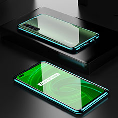 Luxury Aluminum Metal Frame Mirror Cover Case 360 Degrees for Realme X50 Pro 5G Green